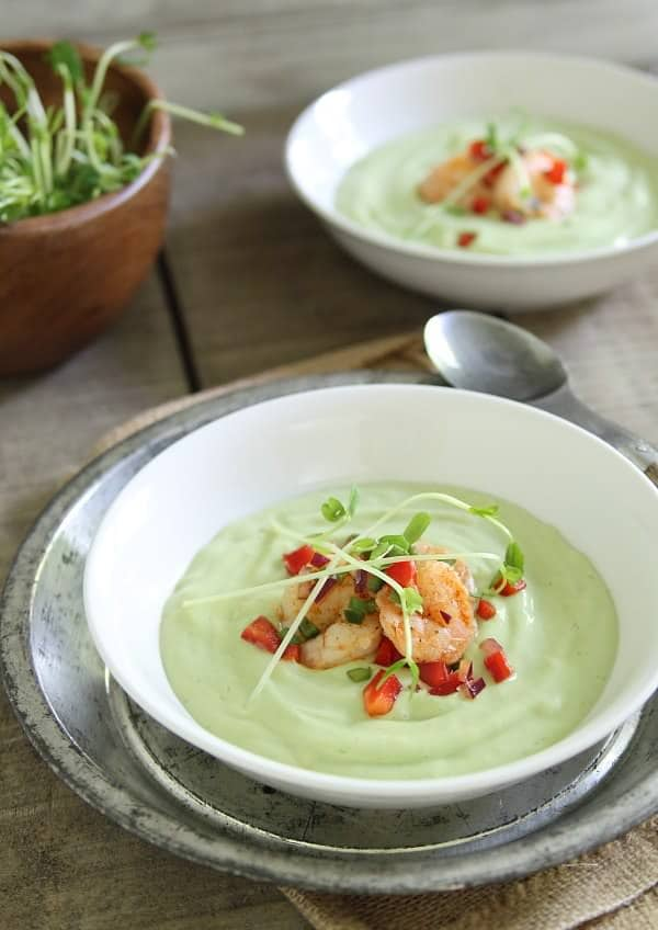 Chilled-avocado-sweet-corn-soup-with-lime-shrimp-salsa1