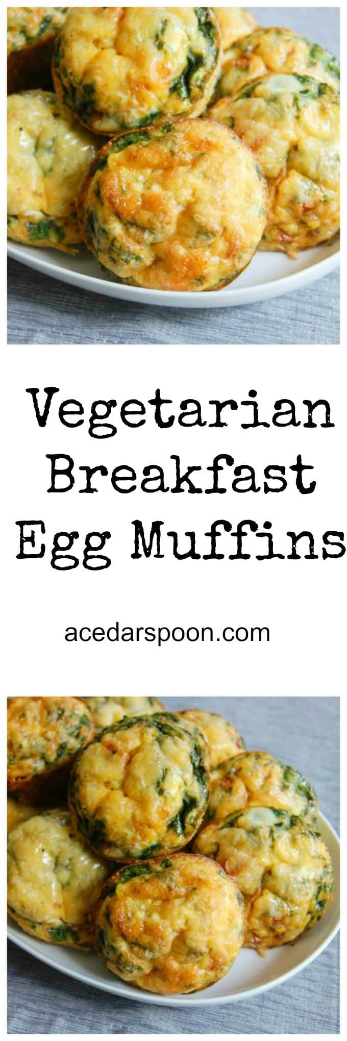 Vegetarian Breakfast Egg Muffins - A Cedar Spoon