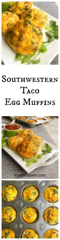 Southwestern Taco Egg Muffins