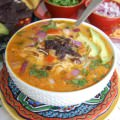 Slow Cooker Mexican Cheesy Chicken Soup
