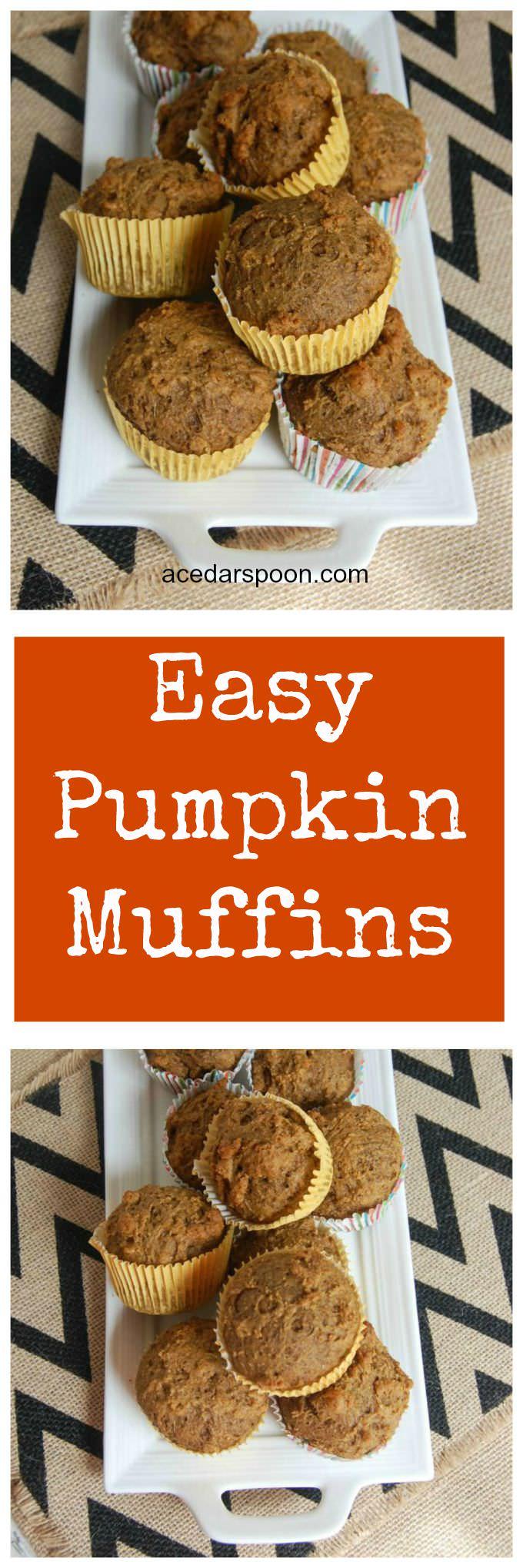 Easy Pumpkin Muffins - A Cedar Spoon
