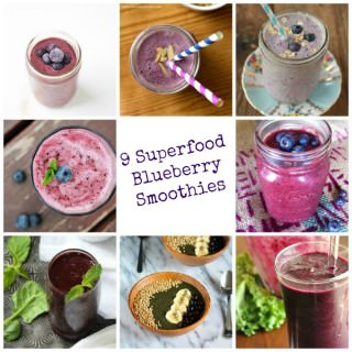 9 Superfood Blueberry Smoothies {Superfood Saturday}