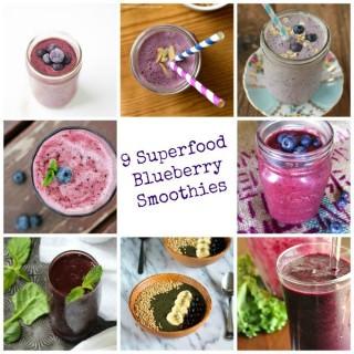 9 Superfood Blueberry Smoothies {Superfood Saturday}