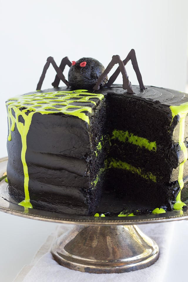 Spooky Spider Web Cake