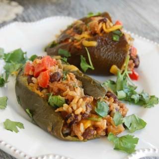 Cheesy Mexican Stuffed Roasted Poblanos