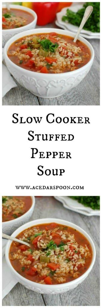 Slow Cooker Stuffed Pepper Soup - my favorite
