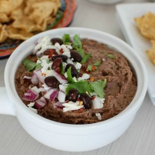 Black Bean Dip with Queso Fresco - great dip