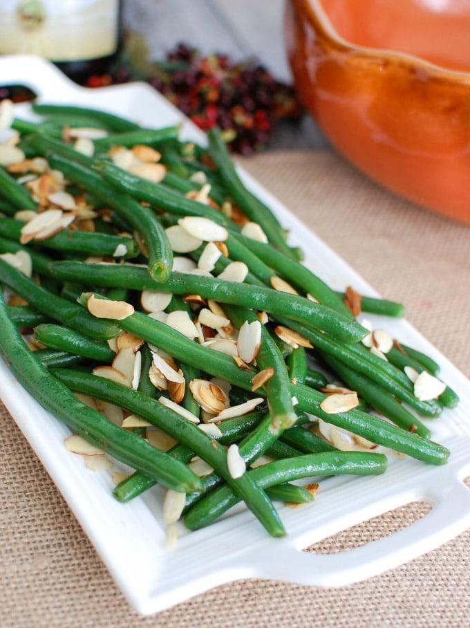 Green Beans with Brown Butter and Toasted Almonds - yum