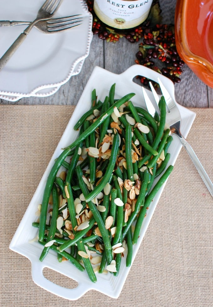 Green Beans with Brown Butter and Toasted Almonds - easy side