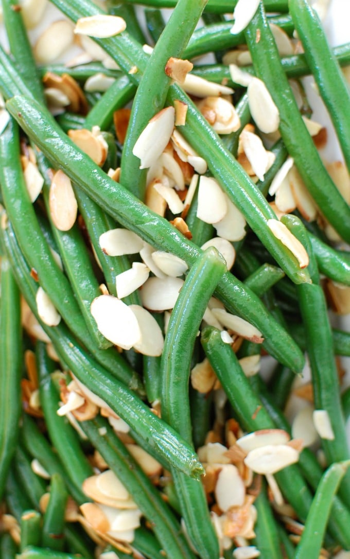 Green Beans with Brown Butter and Toasted Almonds - healthy