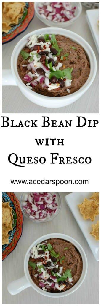 Black Bean Dip with Queso Fresco