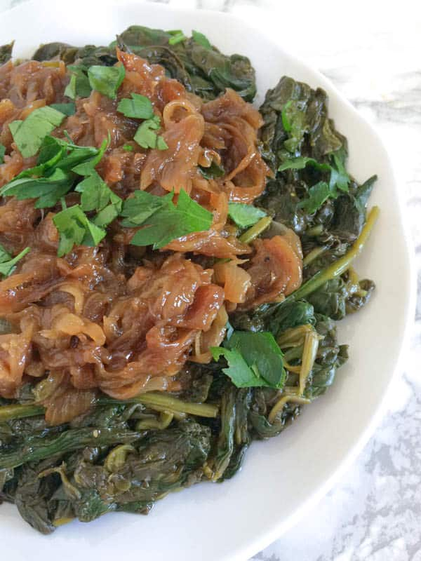 Garlicky-Greens-with-Fried-Onions-The-Lemon-Bowl