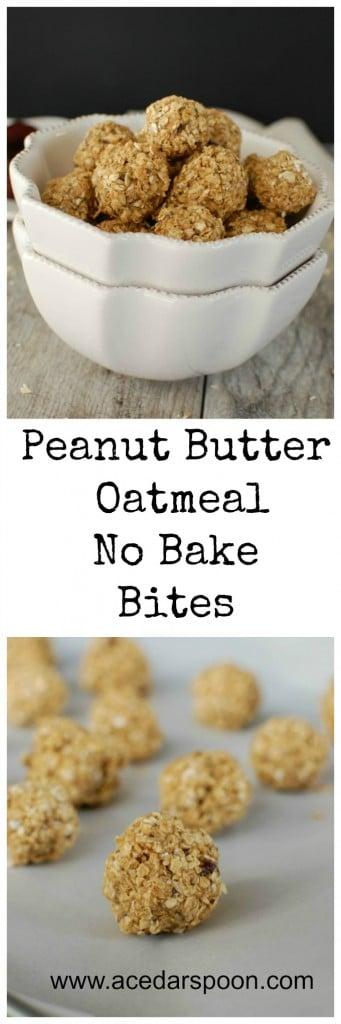 Peanut Butter Oatmeal No Bake Bites