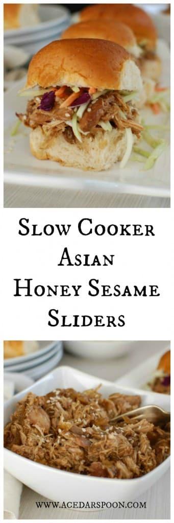 Slow Cooker Asian Honey Sesame Sliders - so good