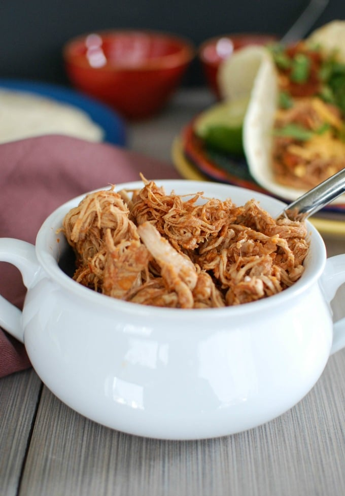 Slow Cooker Shredded Pork Tacos -yum!