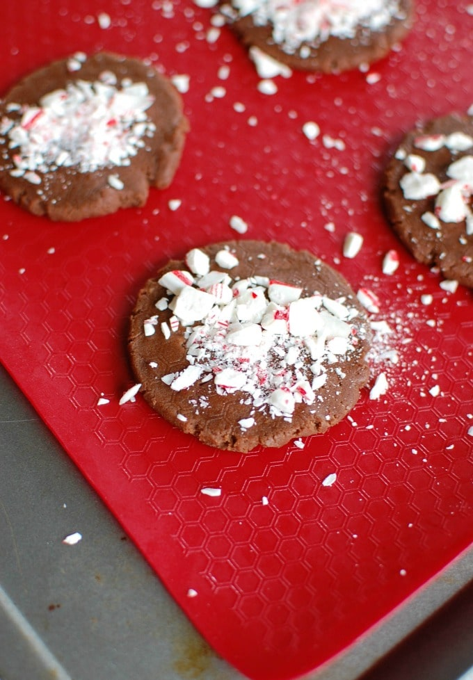 Easy Chocolate Peppermint Cookies - not baked.
