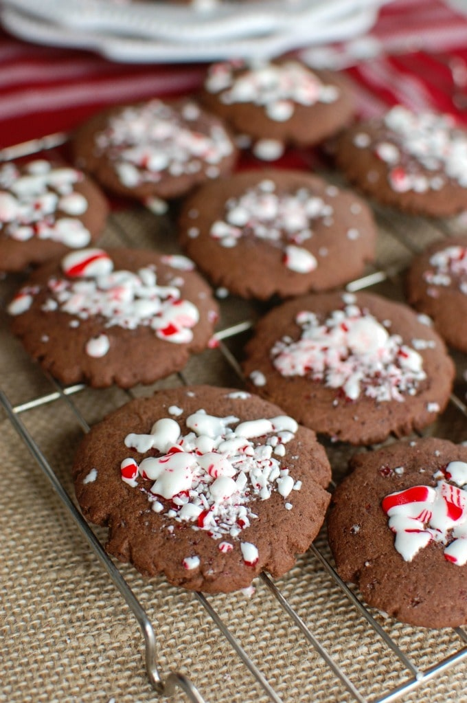 Easy Peppermint Cookies - a holiday treat!