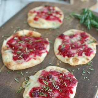 Warm Brie Cranberry Naan - Yum!