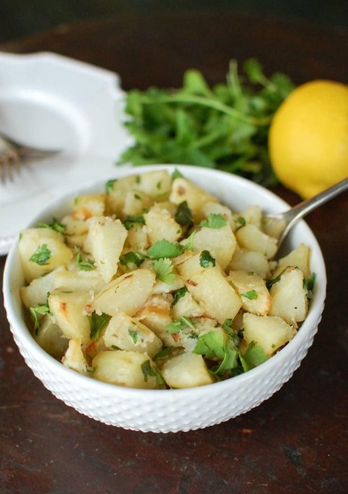 Lemon Cilantro Roasted Potatoes - yum