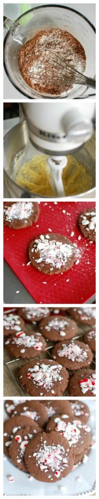 Easy Peppermint Cookies - steps