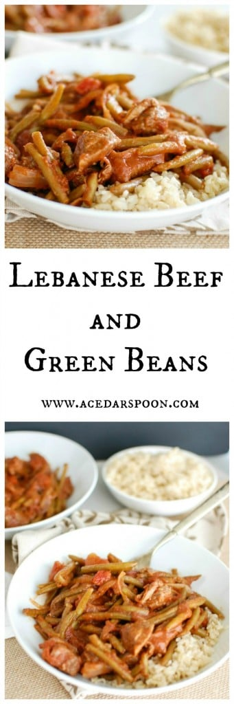 Lebanese Beef and Green Beans - my favorite comfort food!