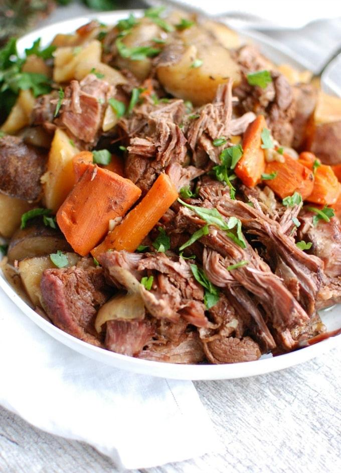 Slow Cooker Pot Roast A Cedar Spoon