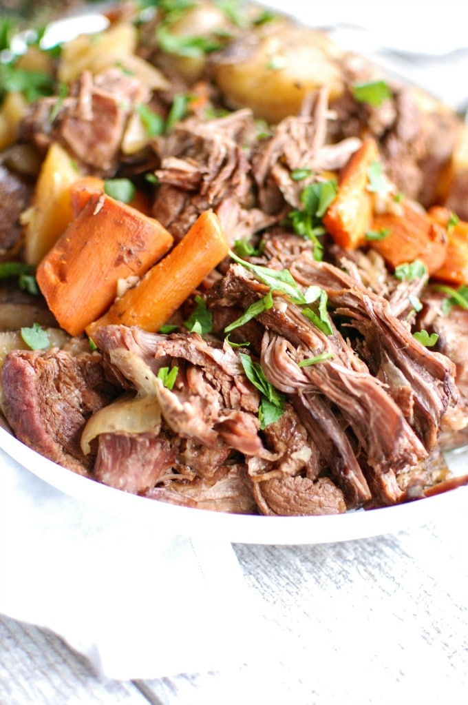 Slow Cooker Pot Roast with parsley