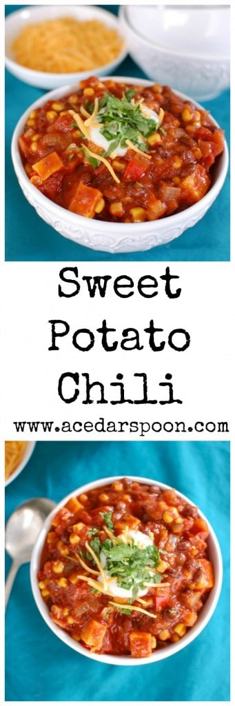 Sweet Potato Chili - protein filled!