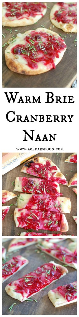 Warm Brie Cranberry Naan