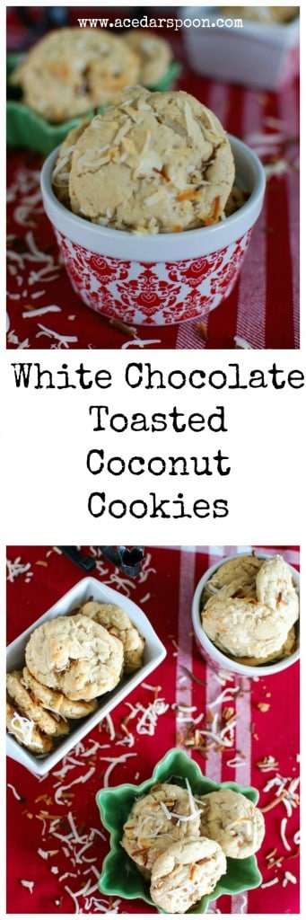 White Chocolate Toasted Coconut Cookies are a delicious addition to your holiday party!