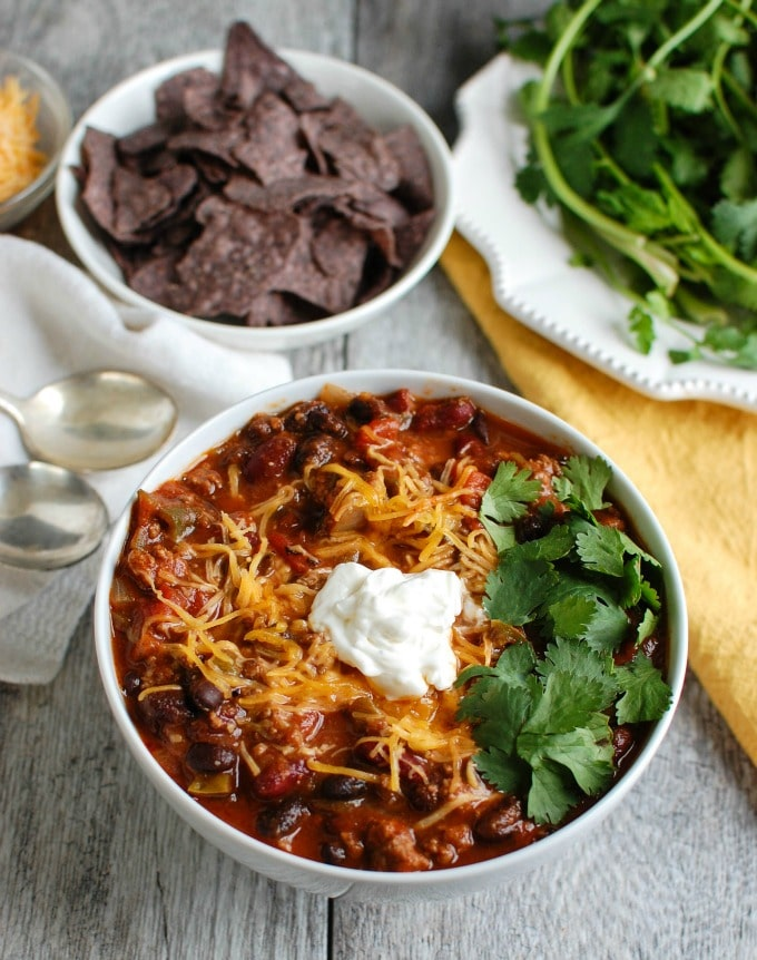 Beef Poblano Black Bean Chili - the best