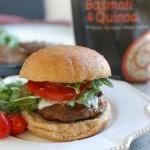 Mediterranean Lamb Quinoa Burgers - flavorful