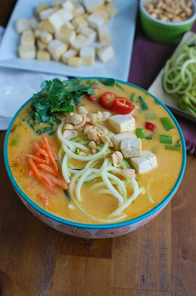 Thai Coconut Zoodle Soup with tofu