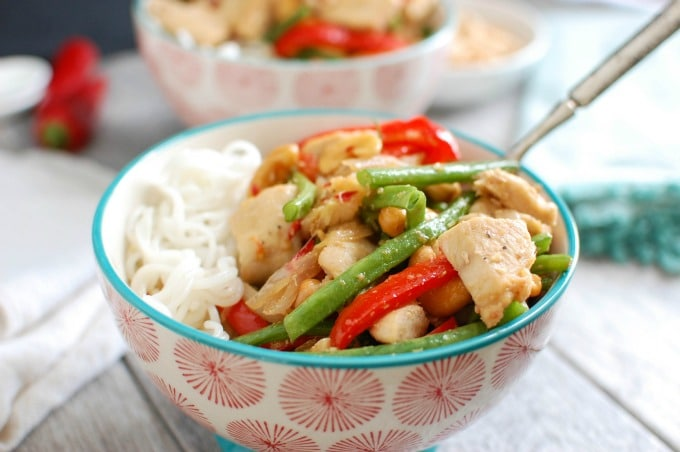 Lemongrass Chicken Noodle Bowls - dinner
