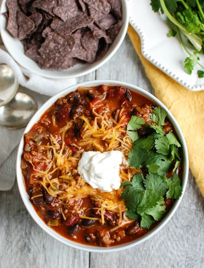 Beef Poblano Black Bean Chili - so warm