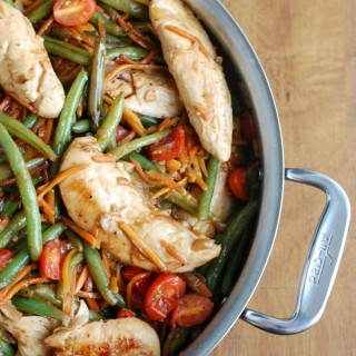 30 Minute One Pot Balsamic Chicken and Vegetables