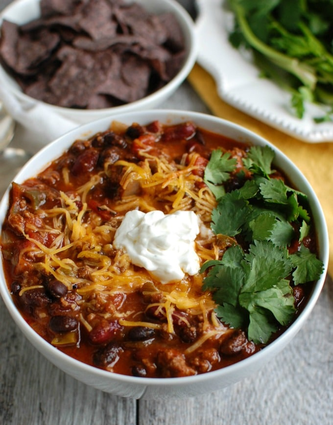 Beef Poblano Black Bean Chili - comforting