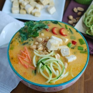 Thai Coconut Zoodle Soup - yum