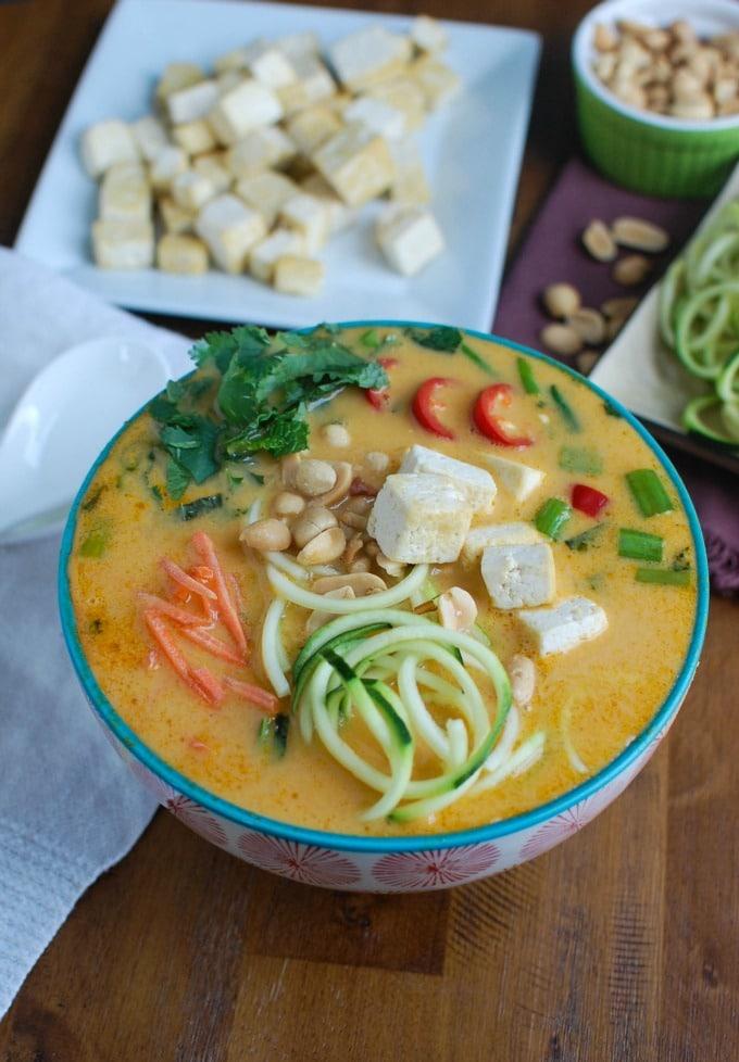 Thai Coconut Zoodle Soup - yum