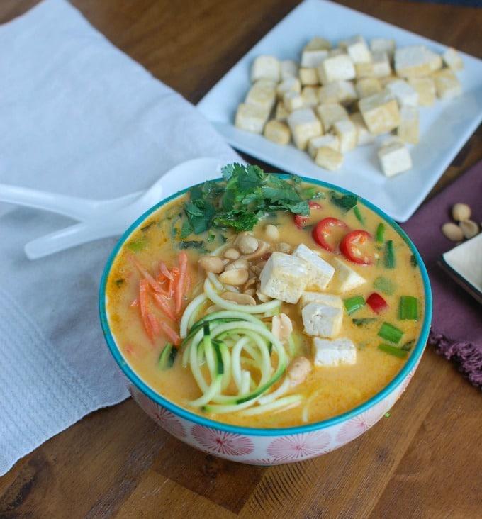 Thai Coconut Zoodle Soup - dinner