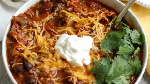 Beef Poblano Black Bean Chili - yum
