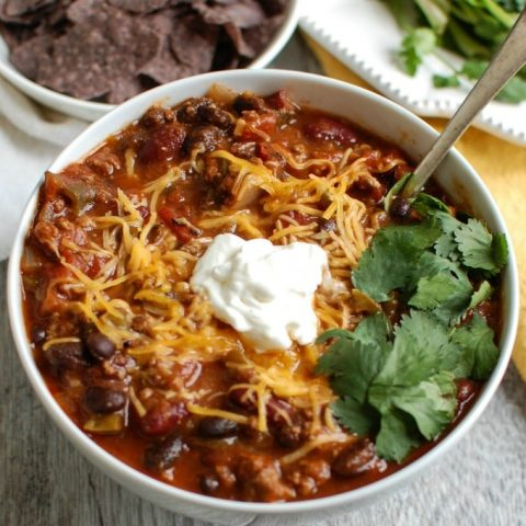 Beef Poblano Black Bean Chili - yum