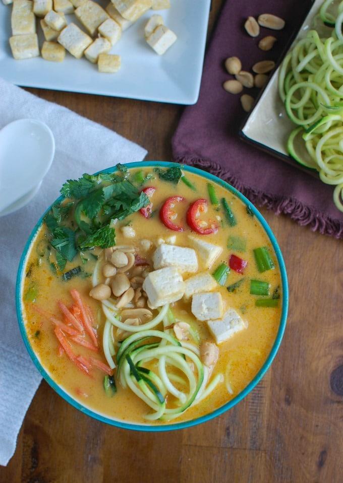 Thai Coconut Zoodle Soup - soup is so good