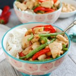 Stir-fried Lemongrass Chicken Noodle Bowls