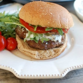 Mediterranean Lamb Quinoa Burger - the best burger