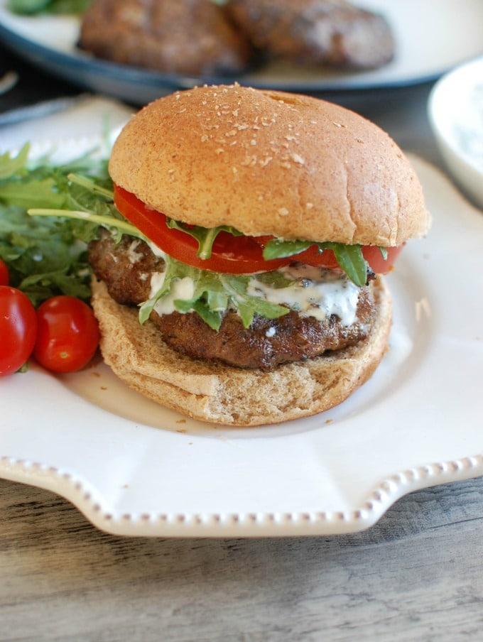Mediterranean Lamb Quinoa Burger - the best burger