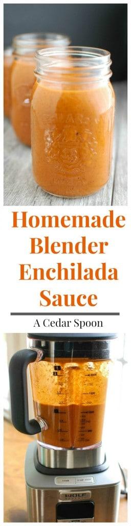 Homemade Blender Enchilada Sauce - ready in 5 minutes