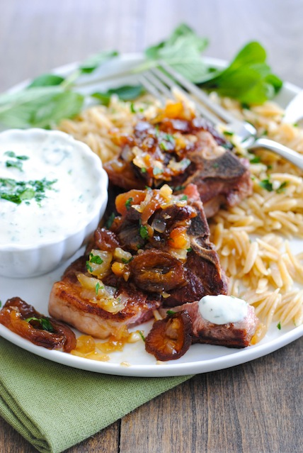 Lamb-Chops-Orzo-with-Apricot-Chutney-and-Herbed-Yogurt2