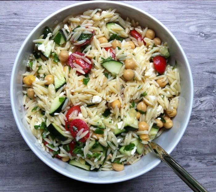 ... orzo recipe yummly orzo pasta with wilted spinach feta and pine nuts