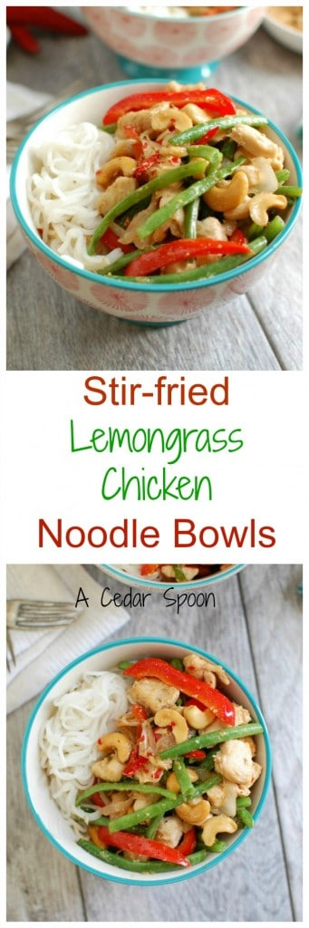 Lemongrass Chicken Noodle Bowls - yum